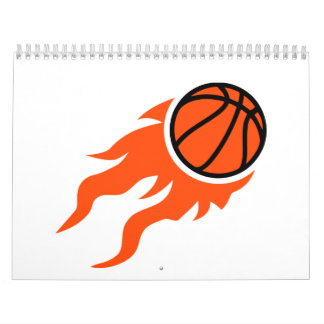 Basketball flames calendar