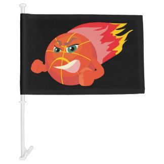 BASKETBALL FLAMES CAR FLAG