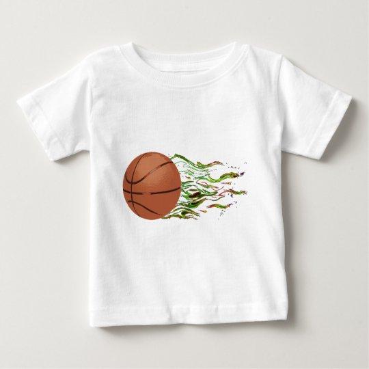 Basketball Flames NBA Hoops Slam Dunk Baby T-Shirt