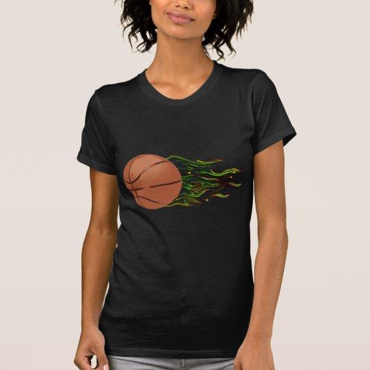 Basketball Flames NBA Hoops Slam Dunk T-Shirt
