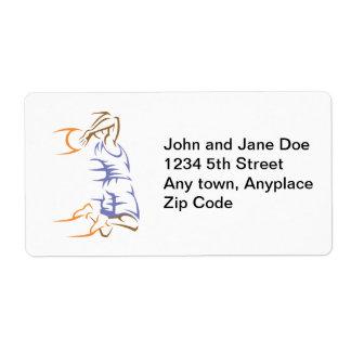 Basketball Flight Personalized Shipping Label
