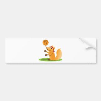 Basketball fox bumper sticker