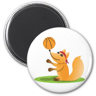 Basketball fox magnet