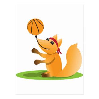 Basketball fox post card