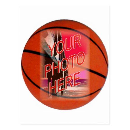 Basketball Frame Template Postcard