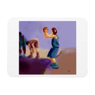 Basketball Free Throw Art Magnet