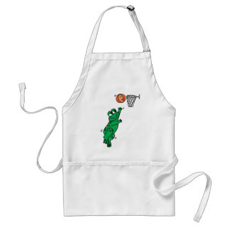 Basketball Frog Adult Apron