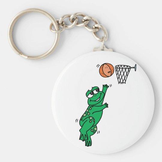 Basketball Frog Keychain