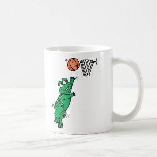 Basketball Frog Classic White Coffee Mug