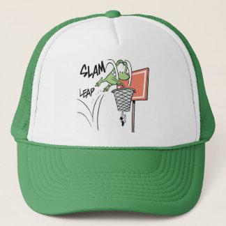 Basketball Frog Slam Dunk Cartoon Trucker Hat