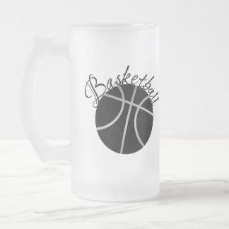 Basketball Frosted Glass Beer Mug