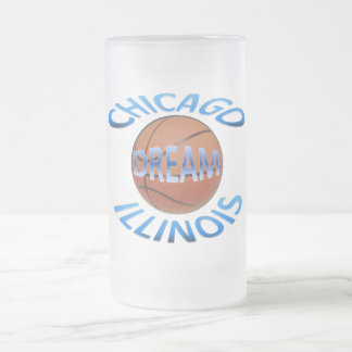 Basketball Frosted Glass Mug