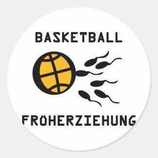 Basketball Früherziehung icon Round Sticker