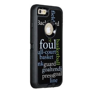 Basketball full court Custom OtterBox Apple iPhone OtterBox Defender iPhone Case