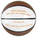 Basketball Fullsize uni White ~ Own Color