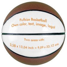 Basketball Fullsize Uni White ~ Own Color at Zazzle