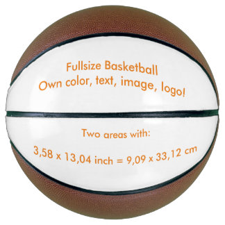 Basketball Fullsize uni White ~ Own Color