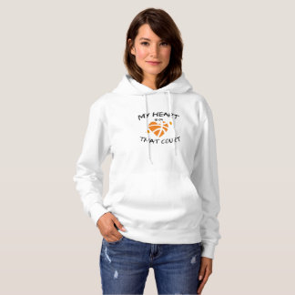 Basketball Funny Gift  My Heart Is On That Court Hoodie
