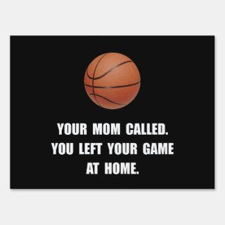 Basketball Game At Home Yard Signs