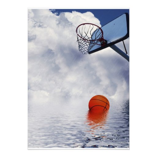 Basketball Game Called 'Cos of Rain Custom Invitation