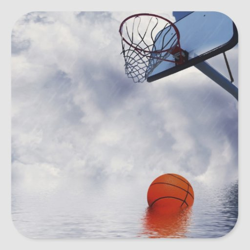 Basketball Game Called 'Cos of Rain Stickers