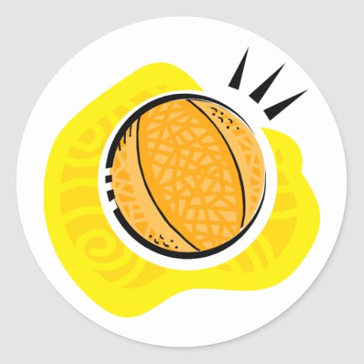 Basketball Game Classic Round Sticker