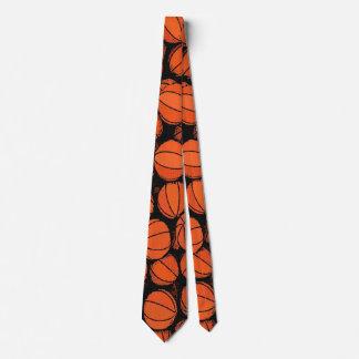 Basketball Game Day Designer Satin Necktie