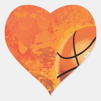 basketball game team player tournament court sport heart sticker