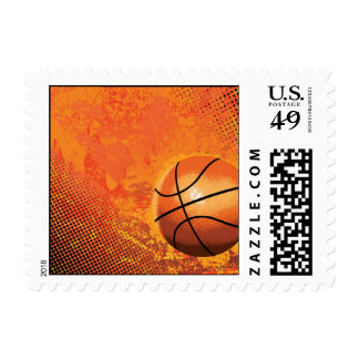 basketball game team player tournament court sport postage
