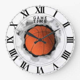 Basketball Game Time Large Clock