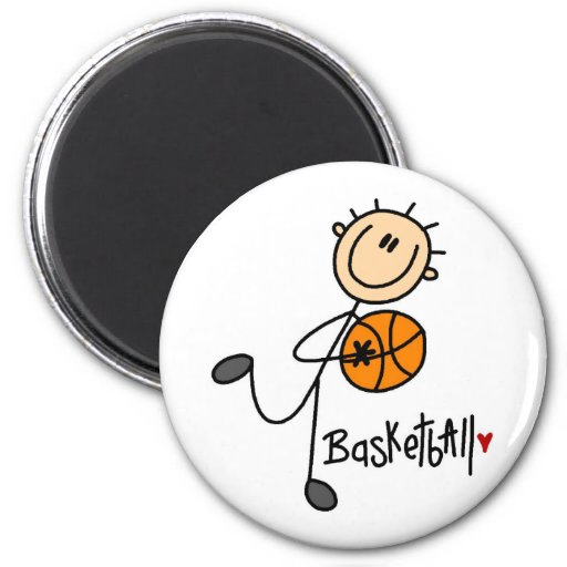 Basketball Gift 2 Inch Round Magnet