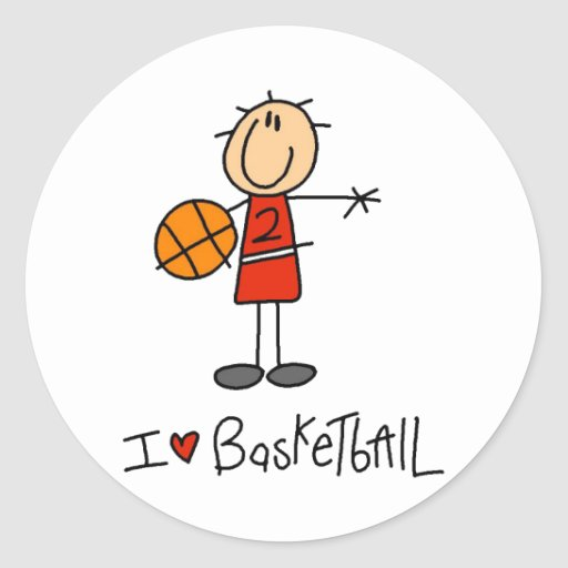 Basketball Gift Classic Round Sticker