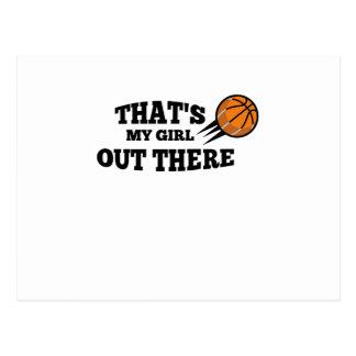 Basketball  Gift for Mom Dad Saying That's my Girl Postcard