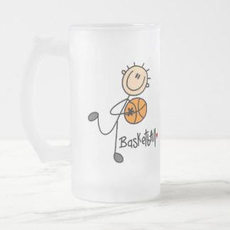 Basketball Gift Frosted Glass Beer Mug