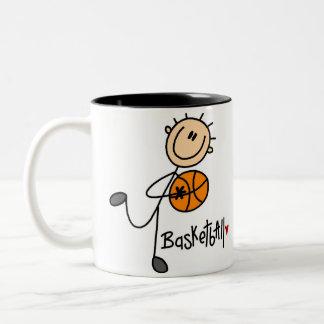 Basketball Gift Two-Tone Coffee Mug