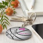 Basketball Gifts for Girls Team PERSONALIZED Basic Round Button Keychain