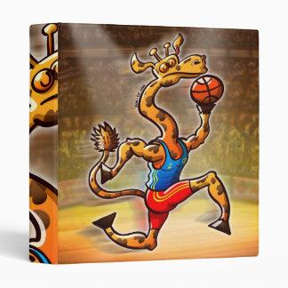 Basketball Giraffe 3 Ring Binder