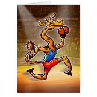 Basketball Giraffe Card