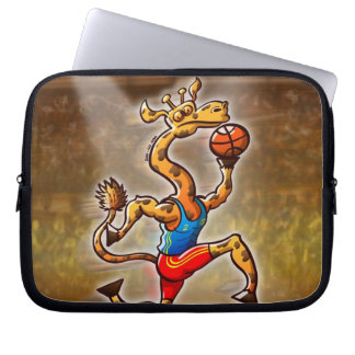Basketball Giraffe Computer Sleeve