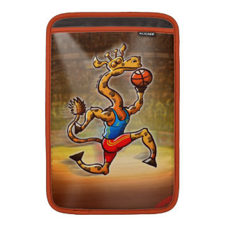 Basketball Giraffe MacBook Air Sleeves