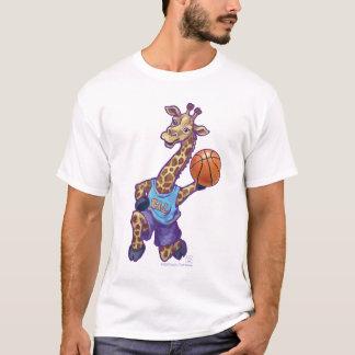 Basketball Giraffe Men's T-Shirts