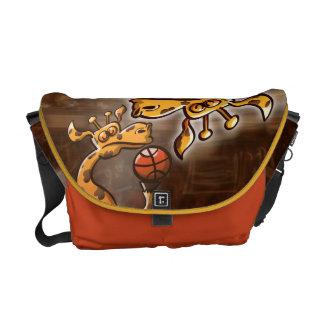 Basketball Giraffe Messenger Bag