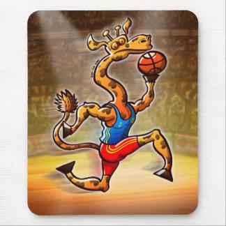 Basketball Giraffe Mouse Pad