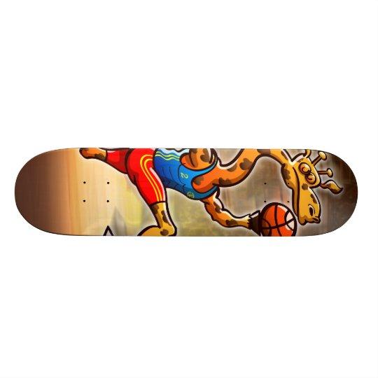 Basketball Giraffe Skateboard Deck
