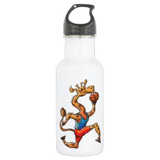 Basketball Giraffe Stainless Steel Water Bottle