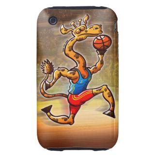 Basketball Giraffe Tough iPhone 3 Case