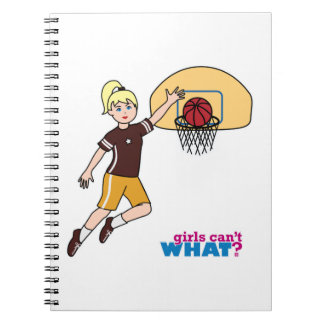 Basketball-girl 1 spiral note books