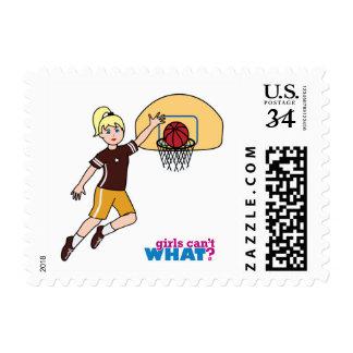 Basketball-girl 1 postage stamp