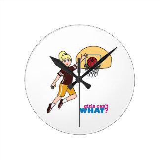 Basketball-girl 1 round clock