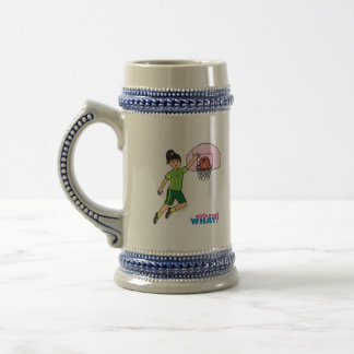 Basketball-girl 2 beer stein